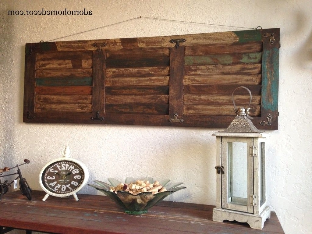 Wall Decor Wood Panel 15 The Best Rustic Wall Accents