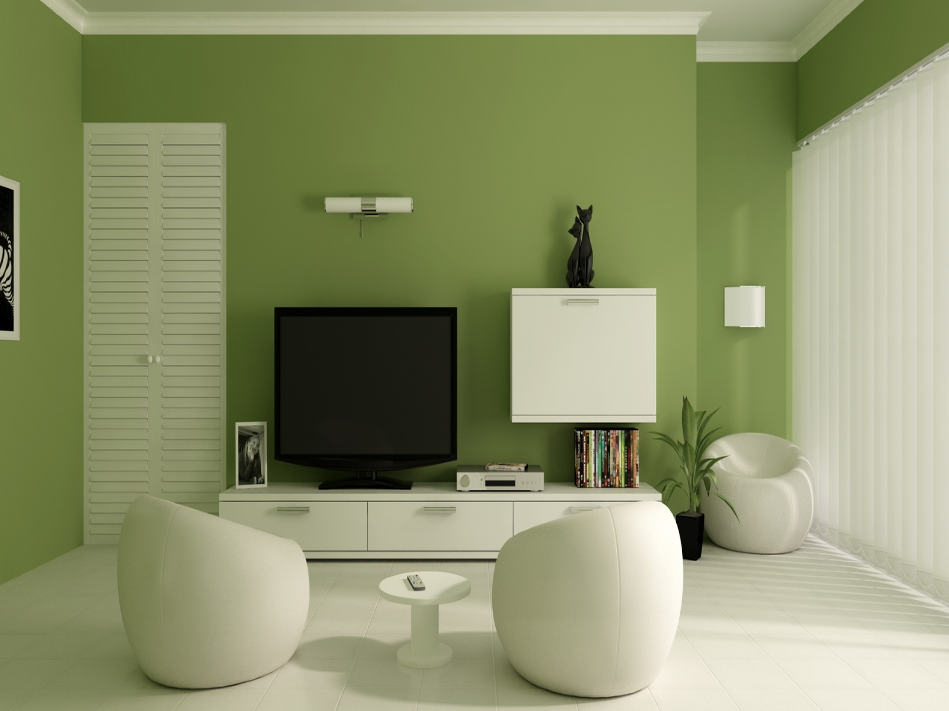 Green Accent Wall 15 Ideas Of Green Room Wall Accents