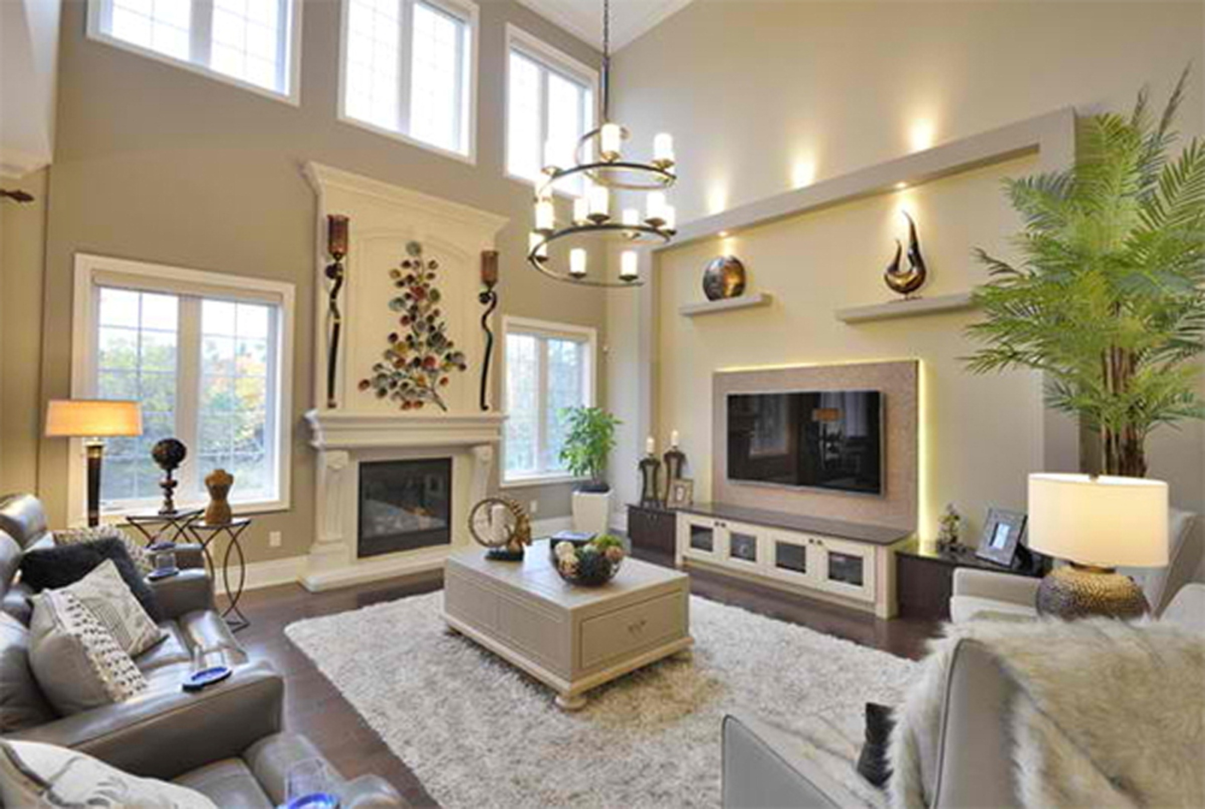 High Ceiling Living Room Ideas 15 Inspirations Of High Ceiling Wall Accents
