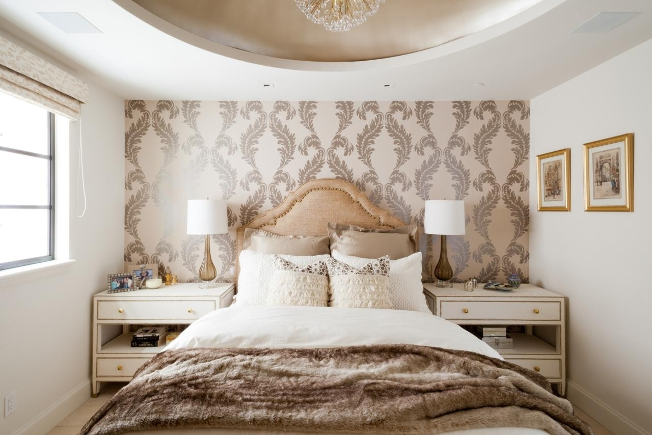 Wallpaper Accent Wall Bedroom 15 Ideas Of Wallpaper Bedroom Wall Accents