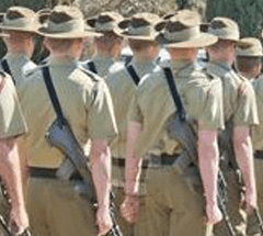 Roll call of organisations the proud Australian Army marched with on 2 March, 2013
