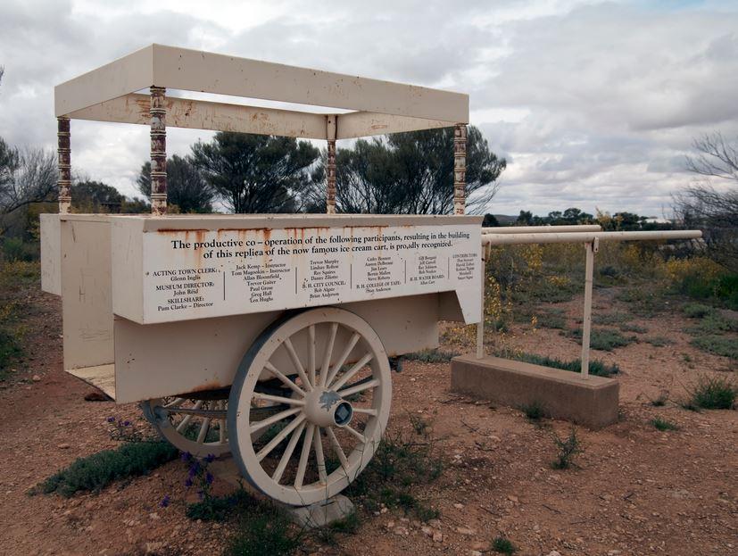 Gunman ice cream cart