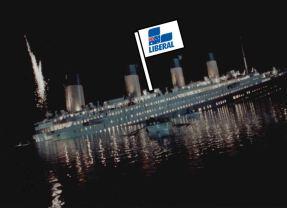Scrambling back aboard the Titanic