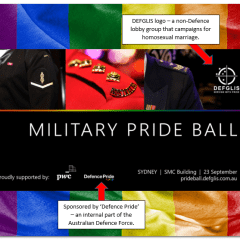 Petition – Cease Defence support for same-sex marriage campaign