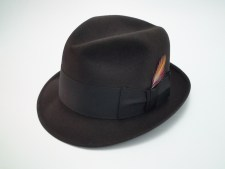 Knox New York Twenty Chocolate Brown Fur Felt Fedora Hat
