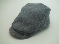 Stetson Herringbone Navy Ivy 100% Cotton Golf Driving Flat Cap