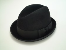 Christys Crown Fedora Black Hand Made 100% Fine Fur Felt Hat