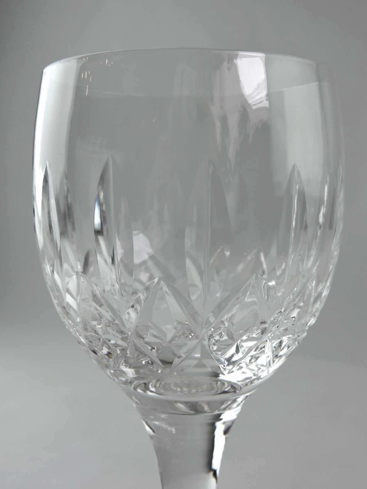 Large Crystal Wine Glasses Large Wine Glass Quotglencoe Pattern Quot Signed Stuart Crystal