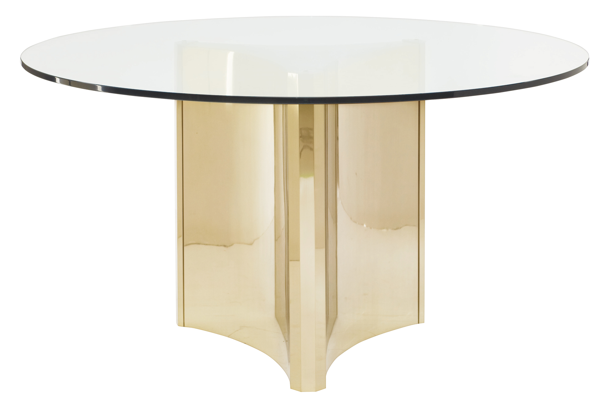 Round Glass Dining Table Round Metal Dining Table With Glass Top Bernhardt