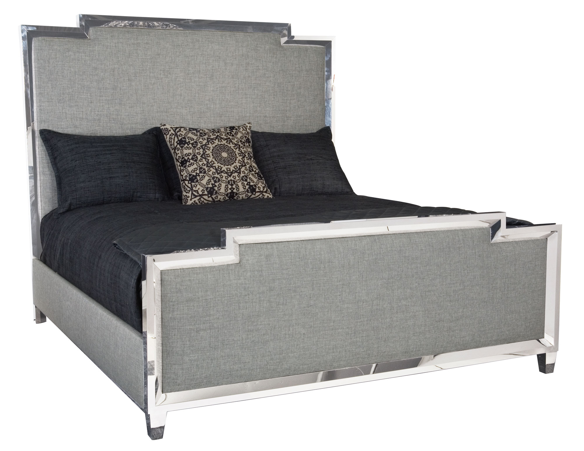 What Is A Panel Bed Metal Upholstered Panel Bed Bernhardt