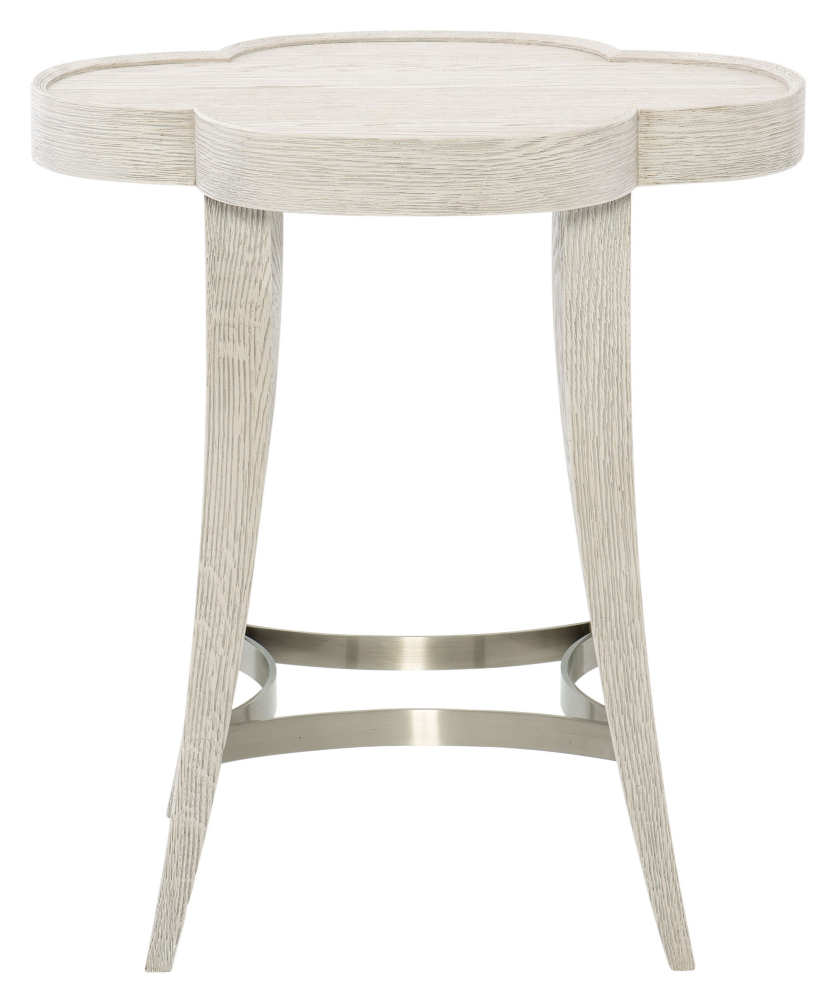Table Metal Blanc Chairside Table Bernhardt