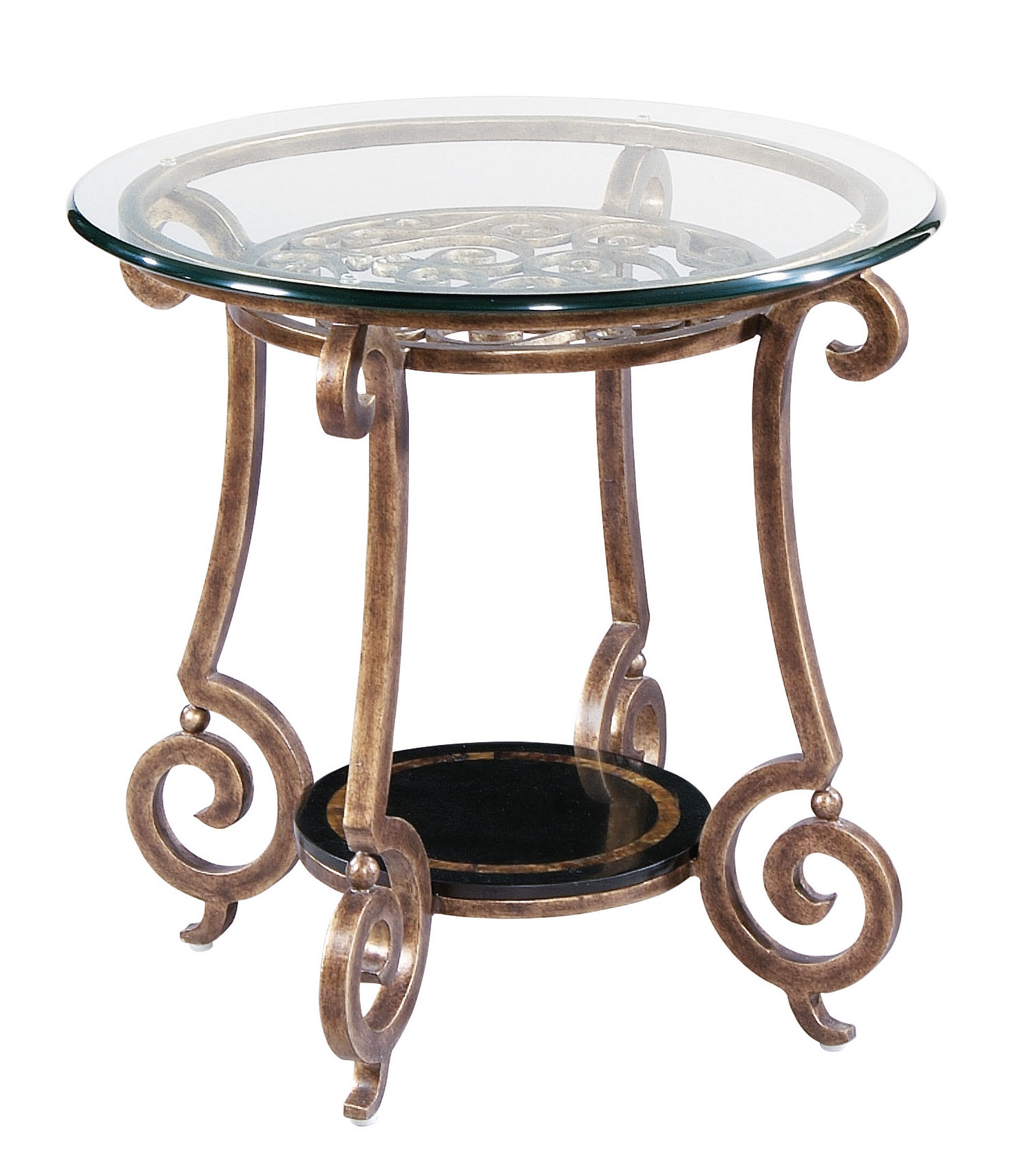 Glass End Table Top Round End Table Base And Glass Top Bernhardt