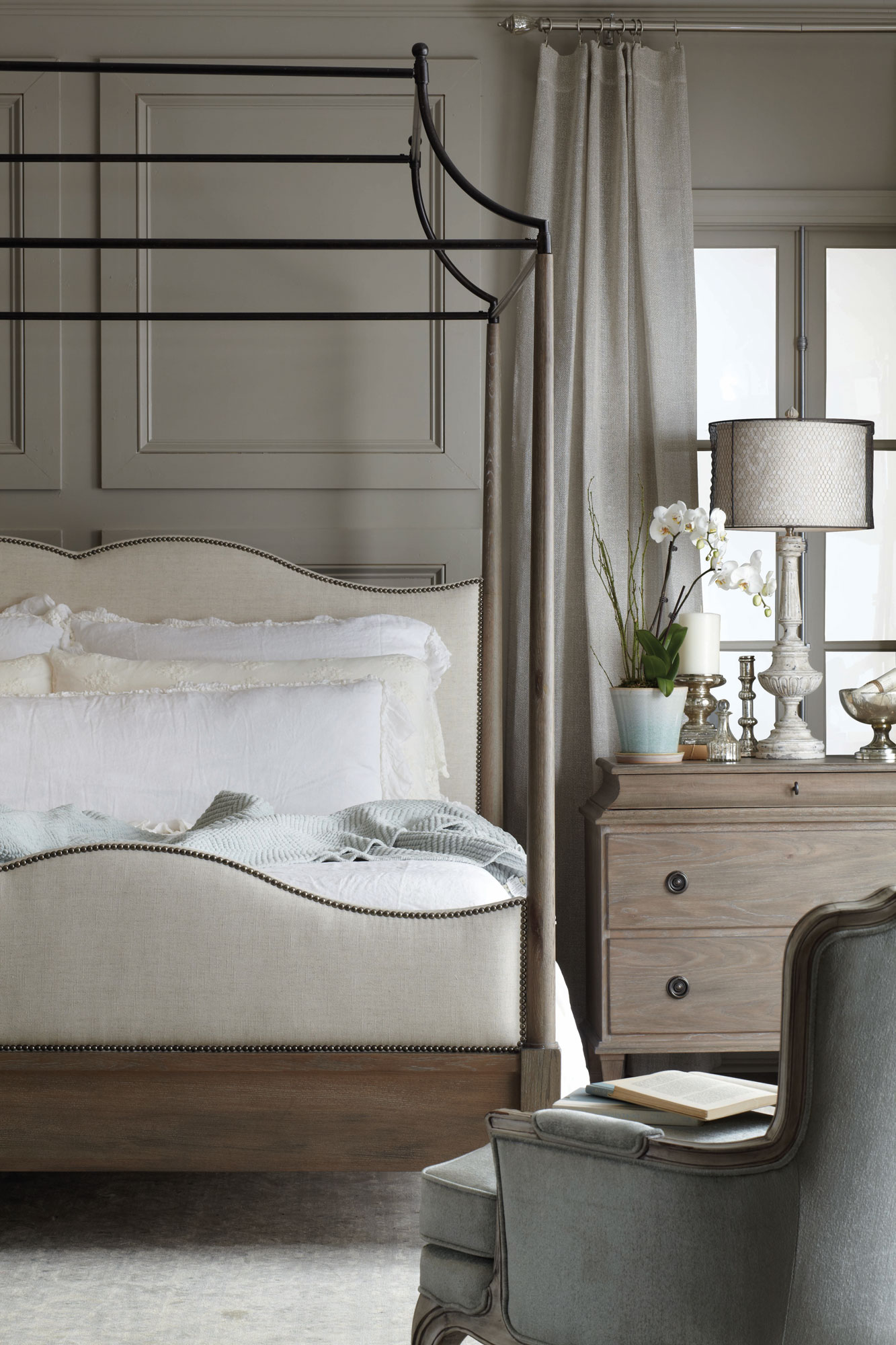 Domayne Beds Catalogue Auberge Canopy Bed And Chest Bedroom Bernhardt