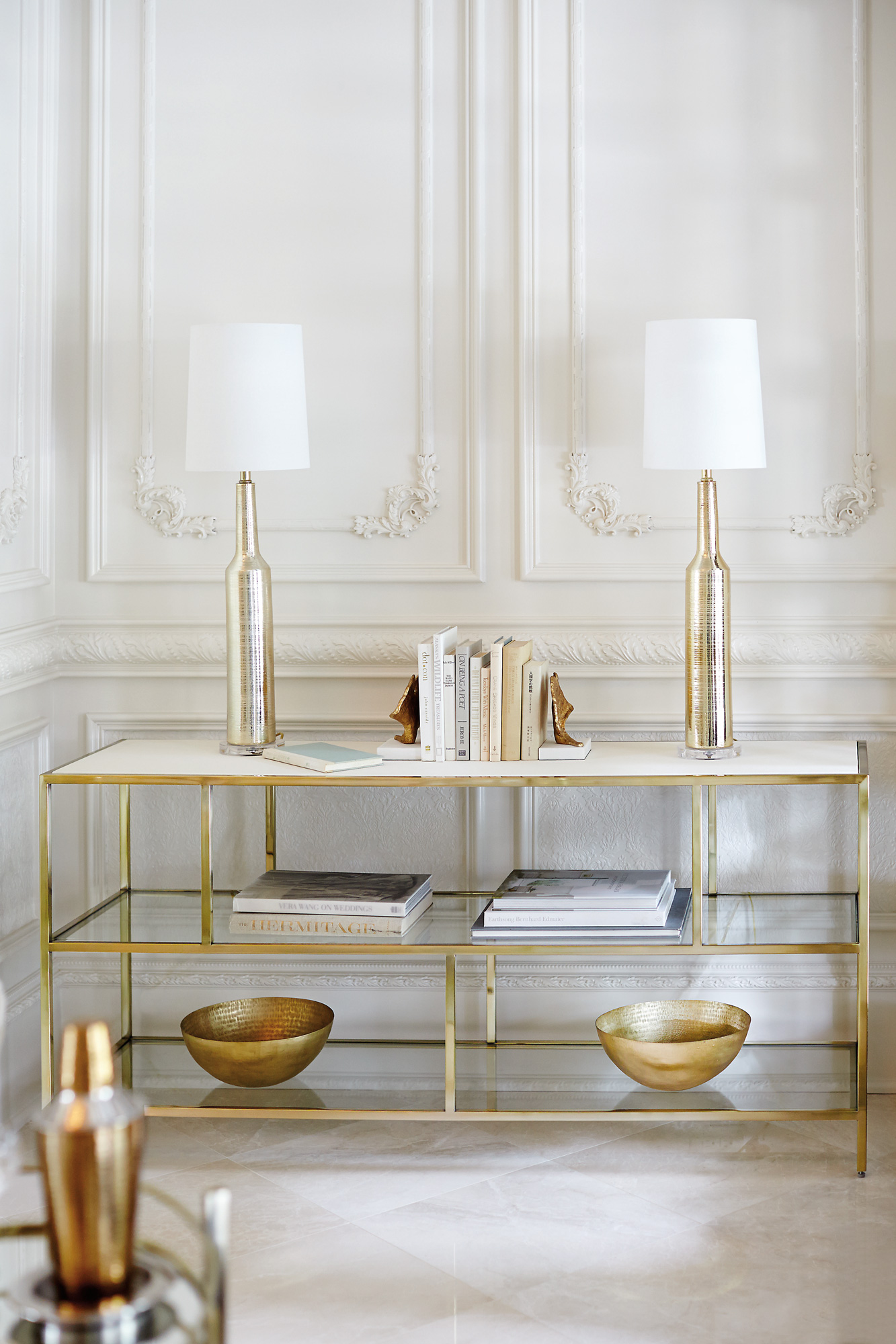 Brass Bar Stools Jet Set Entertainment Console | Bernhardt