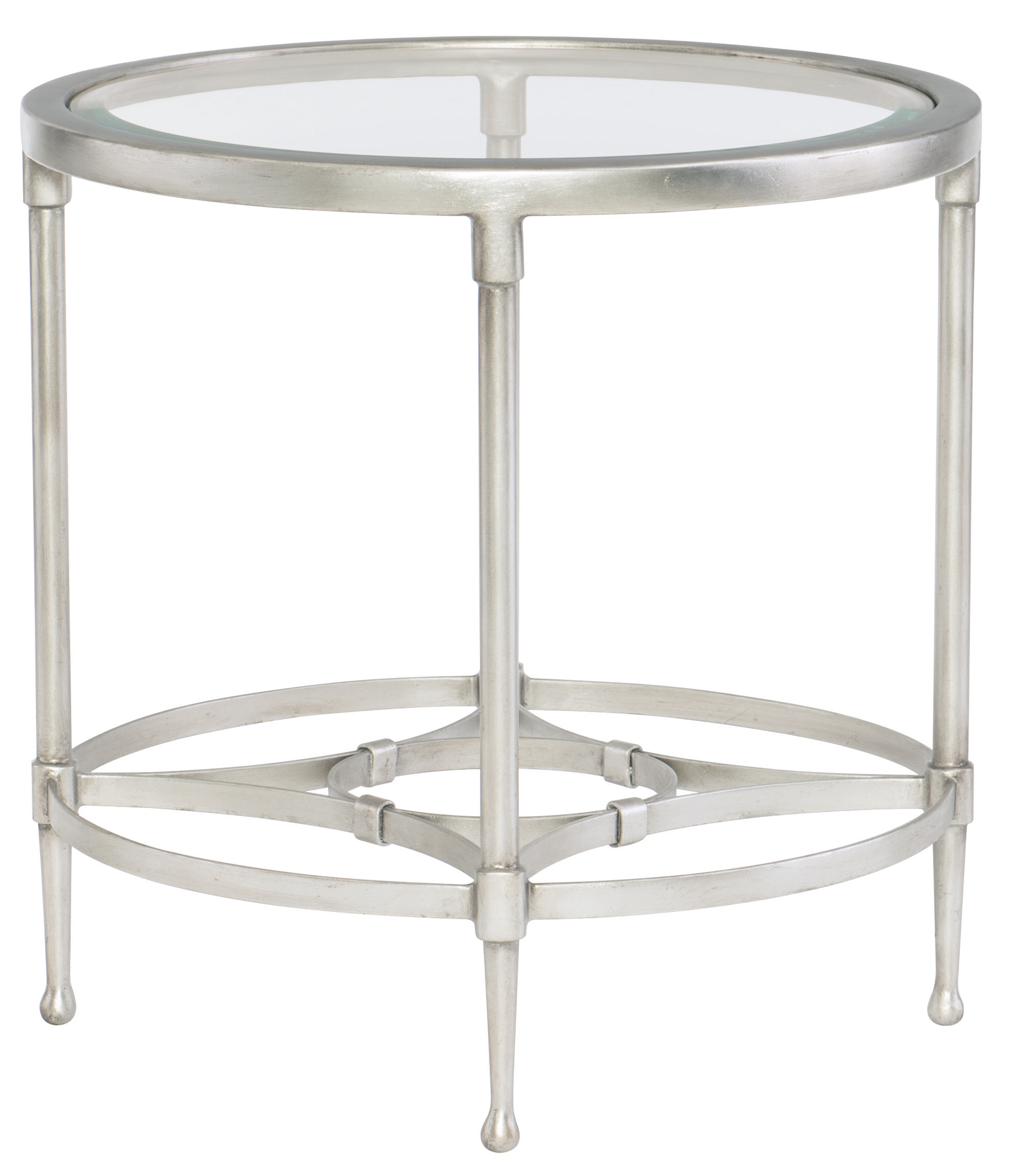Round Glass Top End Tables Round Metal End Table With Glass Top Bernhardt Hospitality