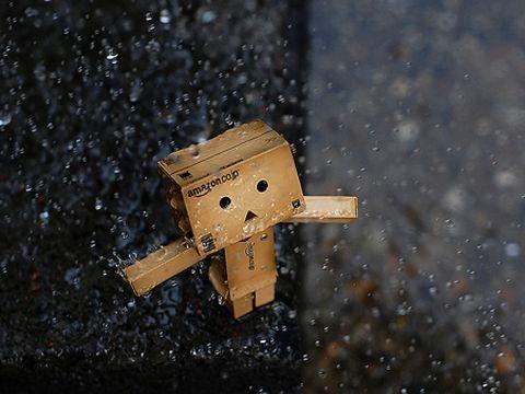 Cute Amazon Box Robot Wallpaper Little Box Boy Danbo Wallies Berry Lip Gloss Pumps