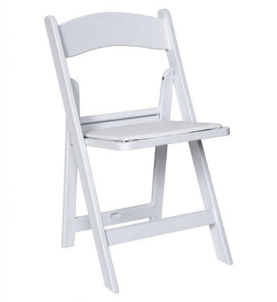 Chairs Folding Resin Folding Chair White