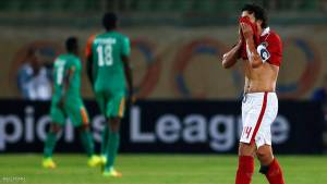 Football Soccer - African Champions League - Egypt's Al Ahly v Zambia's ZESCO - Army Stadium, Suez, Egypt - 12/8/2016 - Hossam Ghaly, captain of Egypt's Al Ahly, reacts after Jesse Were of Zambia's ZESCO scored the team's second goal. REUTERS/Amr Abdallah Dalsh