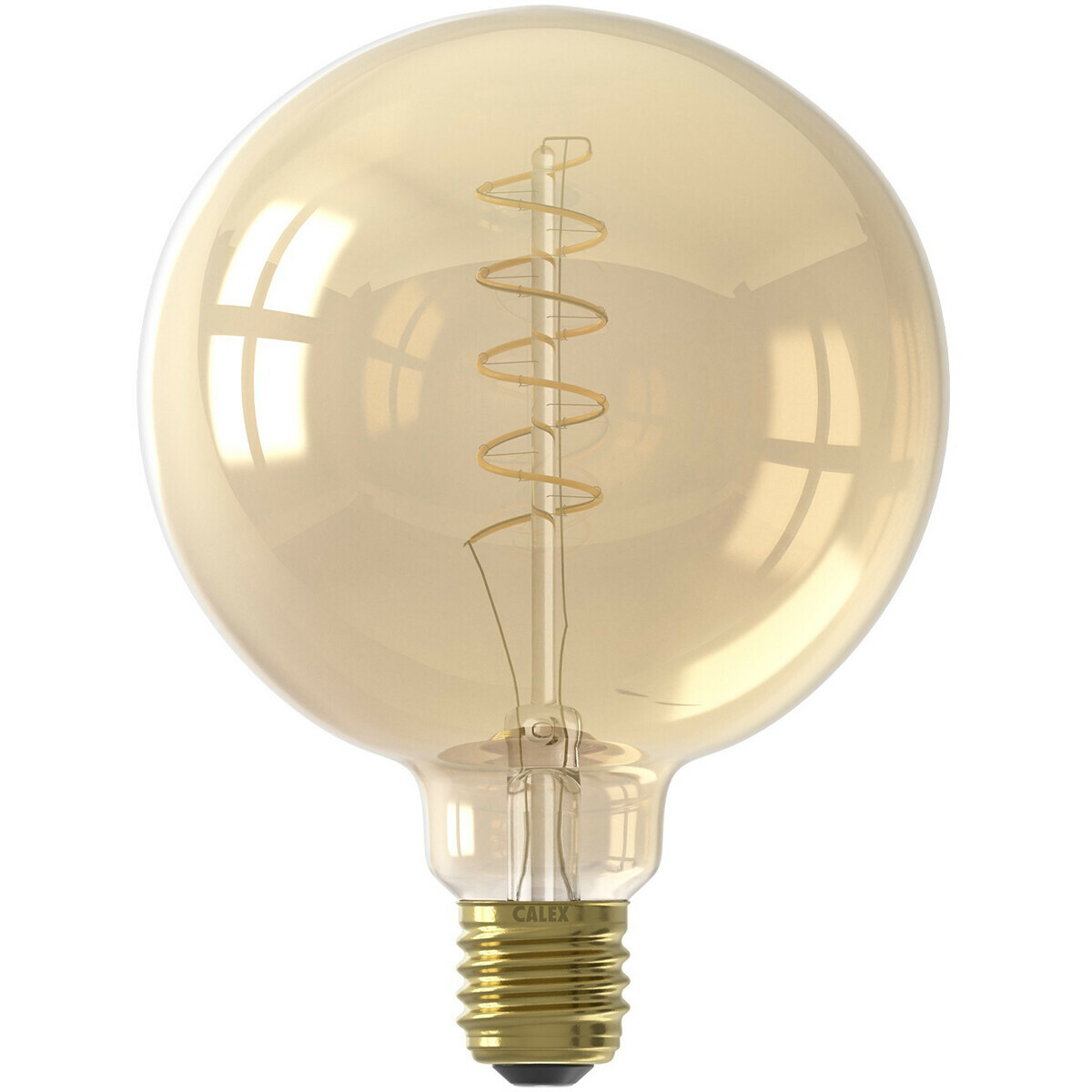 Calex Led Lamp Globe Filament G125 E27 Fitting Dimbaar 4w Warm Wit 2100k Amber Bes Led