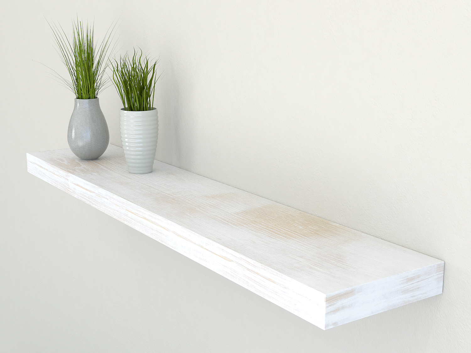 White Floating Shelves Rustic Shelves | White Shelves | Oak Floating Shelf