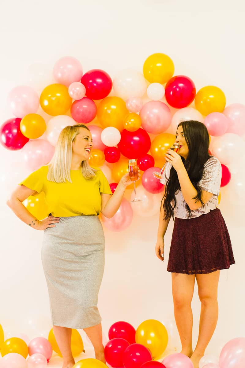 Diy Balloon Wall Backdrop For Your Nye Party Bespoke Bride Wedding Blog