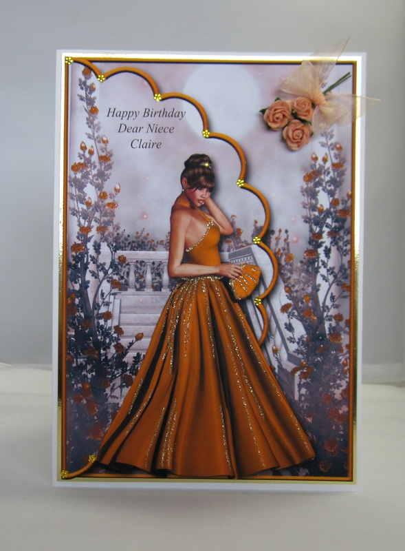 Elegant Lady Birthday Card 1 (layered)