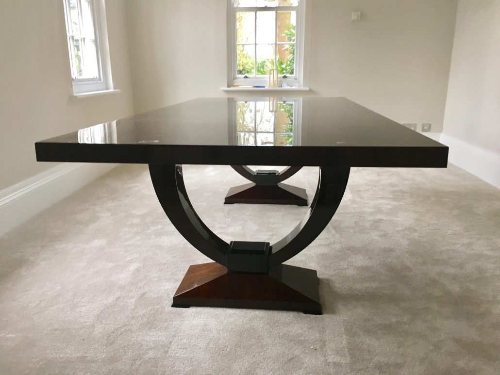 10 Seater Kitchen Table American Black Walnut 10 Seater Dining Table With A Full Gloss