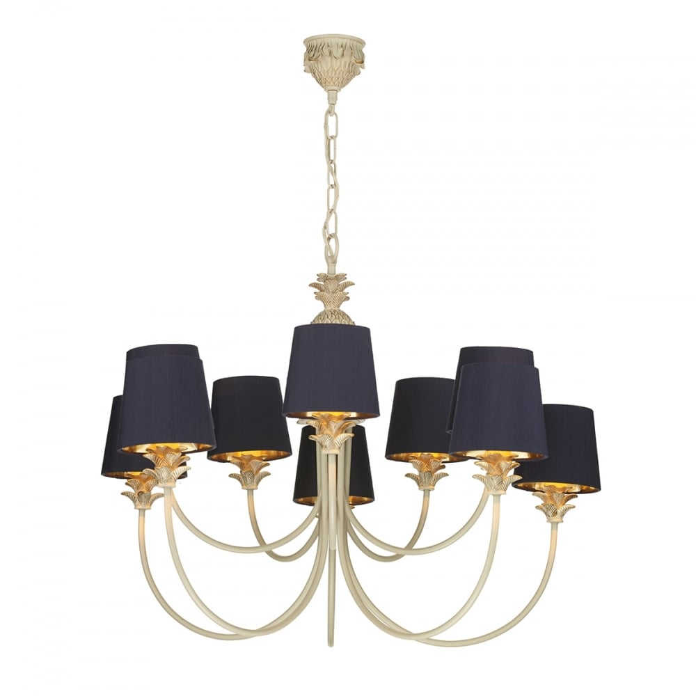 Chandelier Lamp Uk Colonial Pineapple Design Chandelier In Cream Gold With