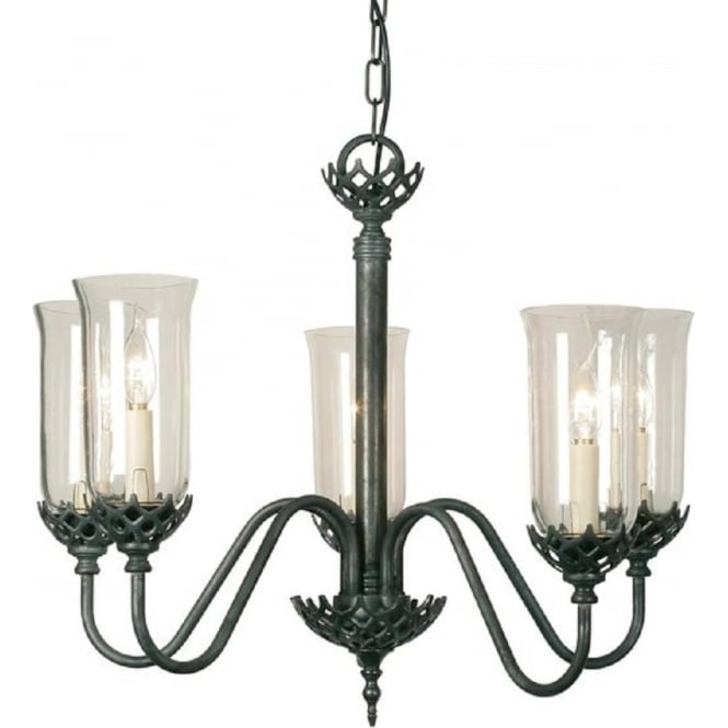 Chandelier Lamp Uk Gothic Light Antique Chandelier, 5 Arms & Clear Storm