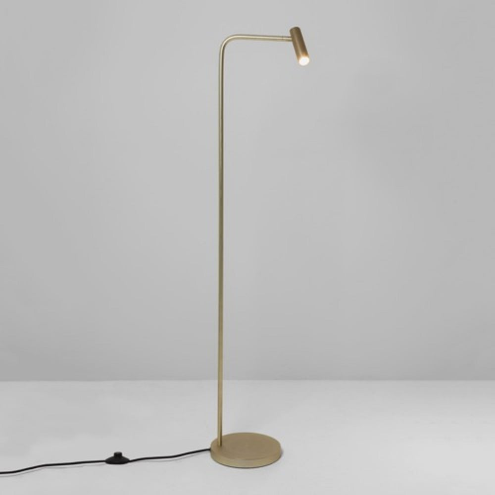 Gold Floor Reading Lamp Imperial Hotel Lighting Enna Modern Minimalist Style Led Floor Reading Lamp Matt Gold