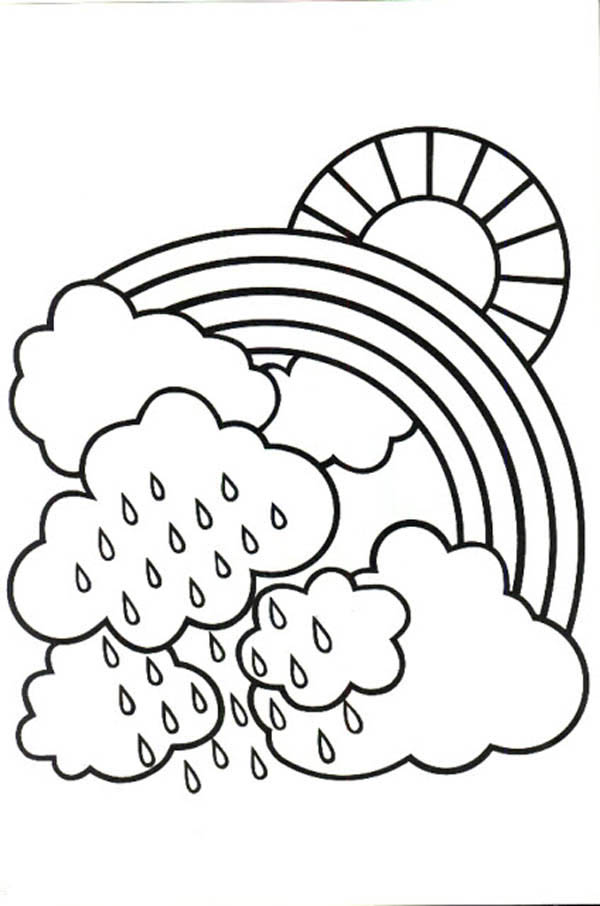 Rainy day coloring pages to download and print for free - best of coloring pages of rainbows to print