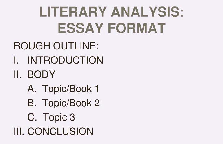 Literary Analysis Essay Outline Effective Writing