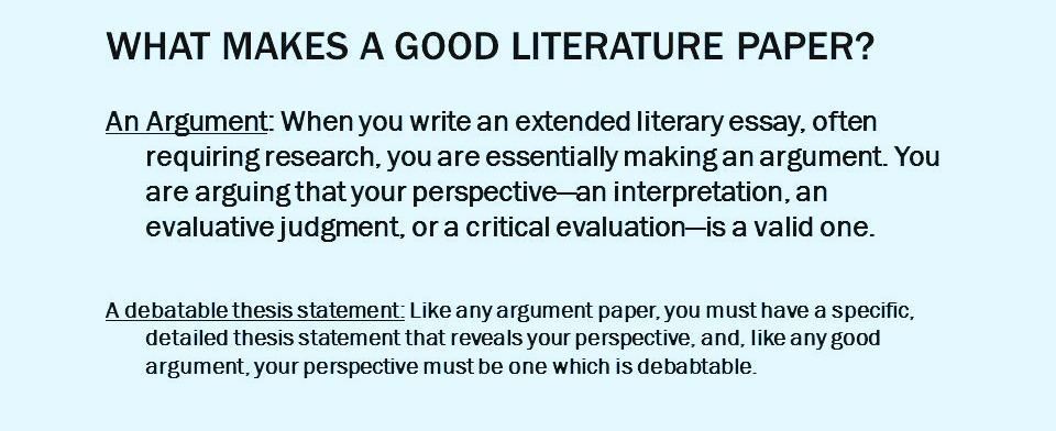 Essential College Skills How to Write a Literary Analysis Essay