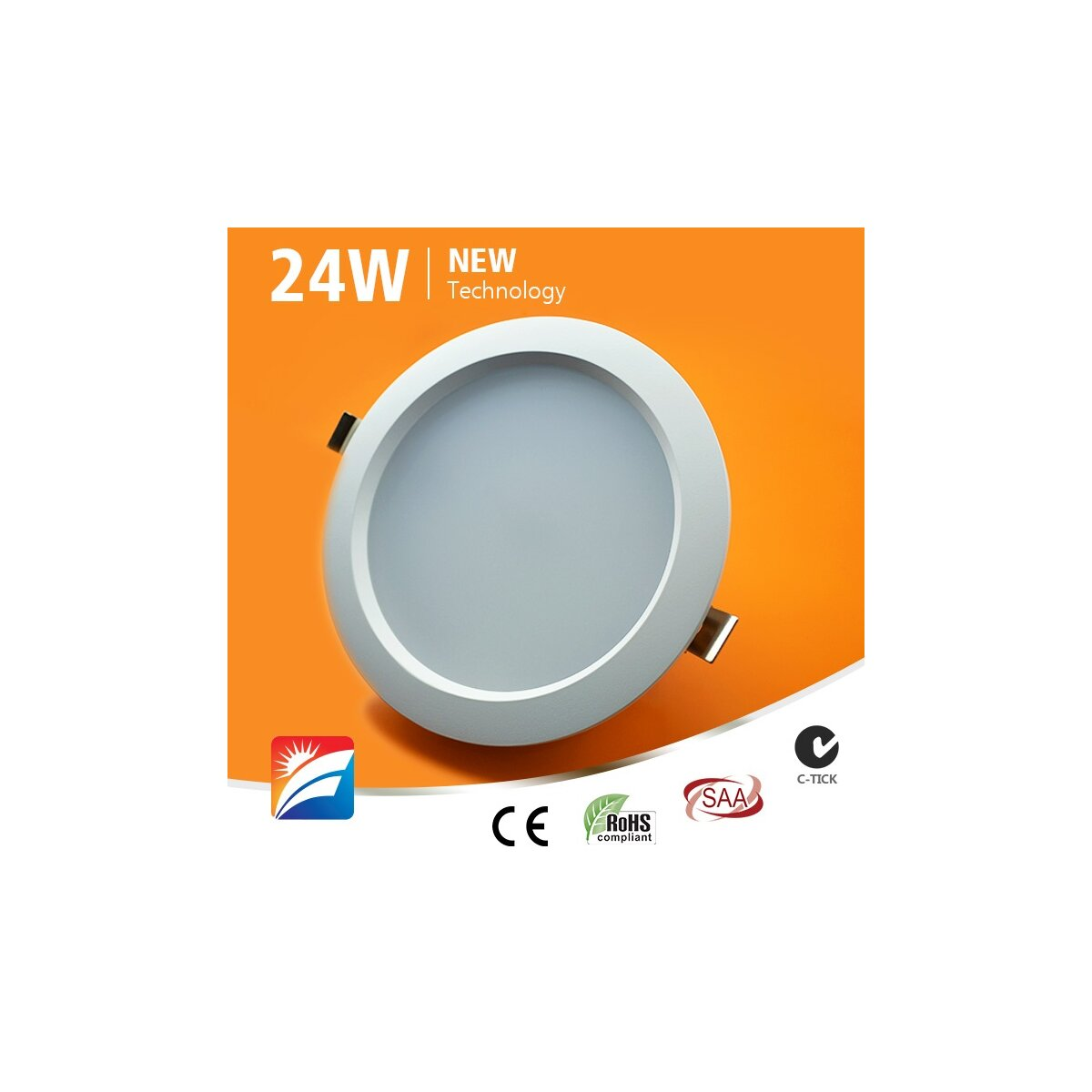 Led Röhre Dimmbar Led-downlight, 24w, 230ac, 120°, Dm 230mm, Cut-out 200mm