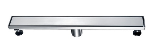 Volga River Stainless Steel Linear Shower Drains - 24-Inch