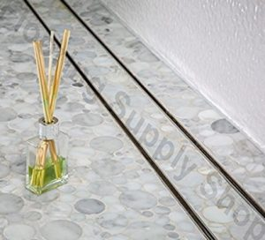 "Royal Stainless Steel Tile Insert Linear Shower Channel Drain - 16"" to 59"" - FREE SHIPPING"