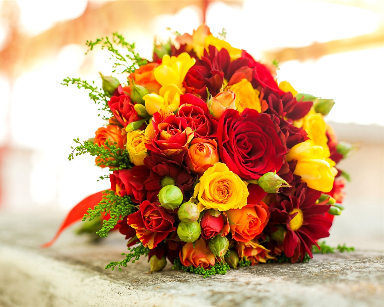 Bright Wallpapers For Iphone 6 Wallpaper Bouquet Flowers Red Yellow Rose 2560x1600 Hd
