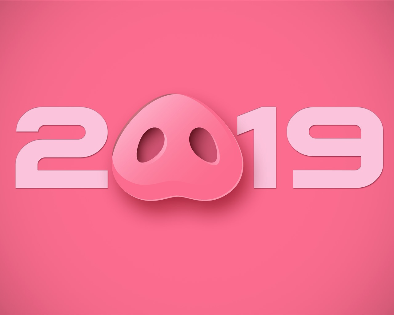 Beautiful Wallpapers For Iphone 6 Plus Wallpaper Happy New Year 2019 Pig Nose Pink Style