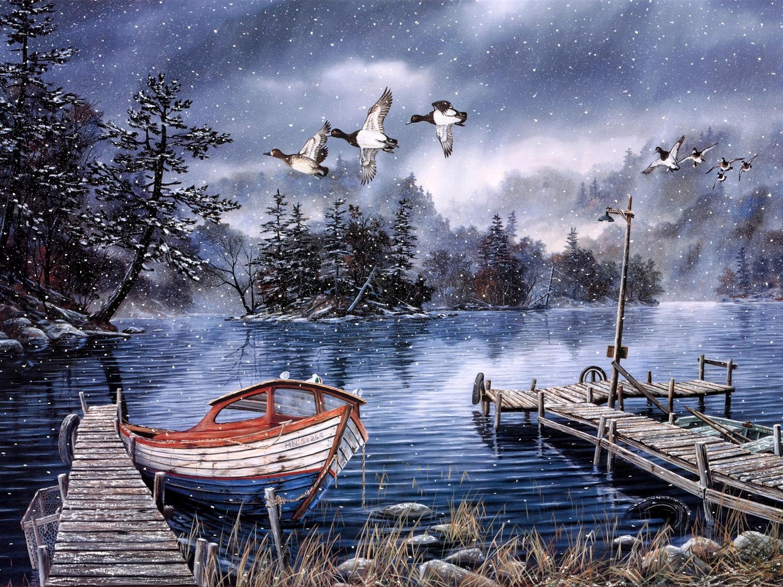 Best Iphone 6s Wallpapers Hd Wallpaper Watercolor Painting Lake And Woods Snow Winter