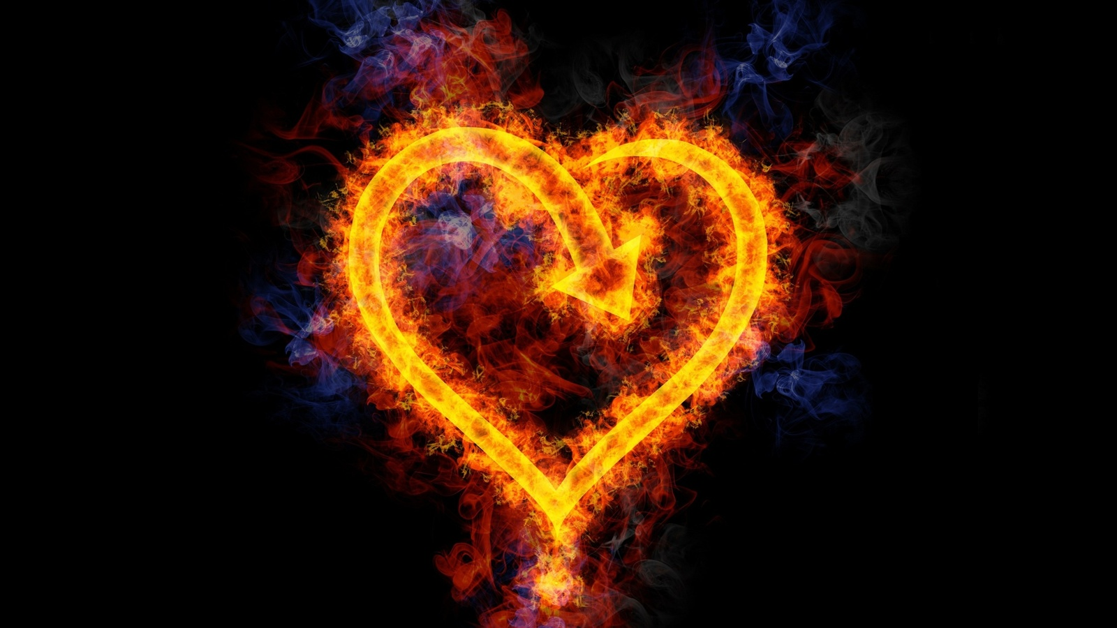 Wallpaper Coffee 3d Wallpaper Flame Love Heart Shaped 2560x1600 Hd Picture Image