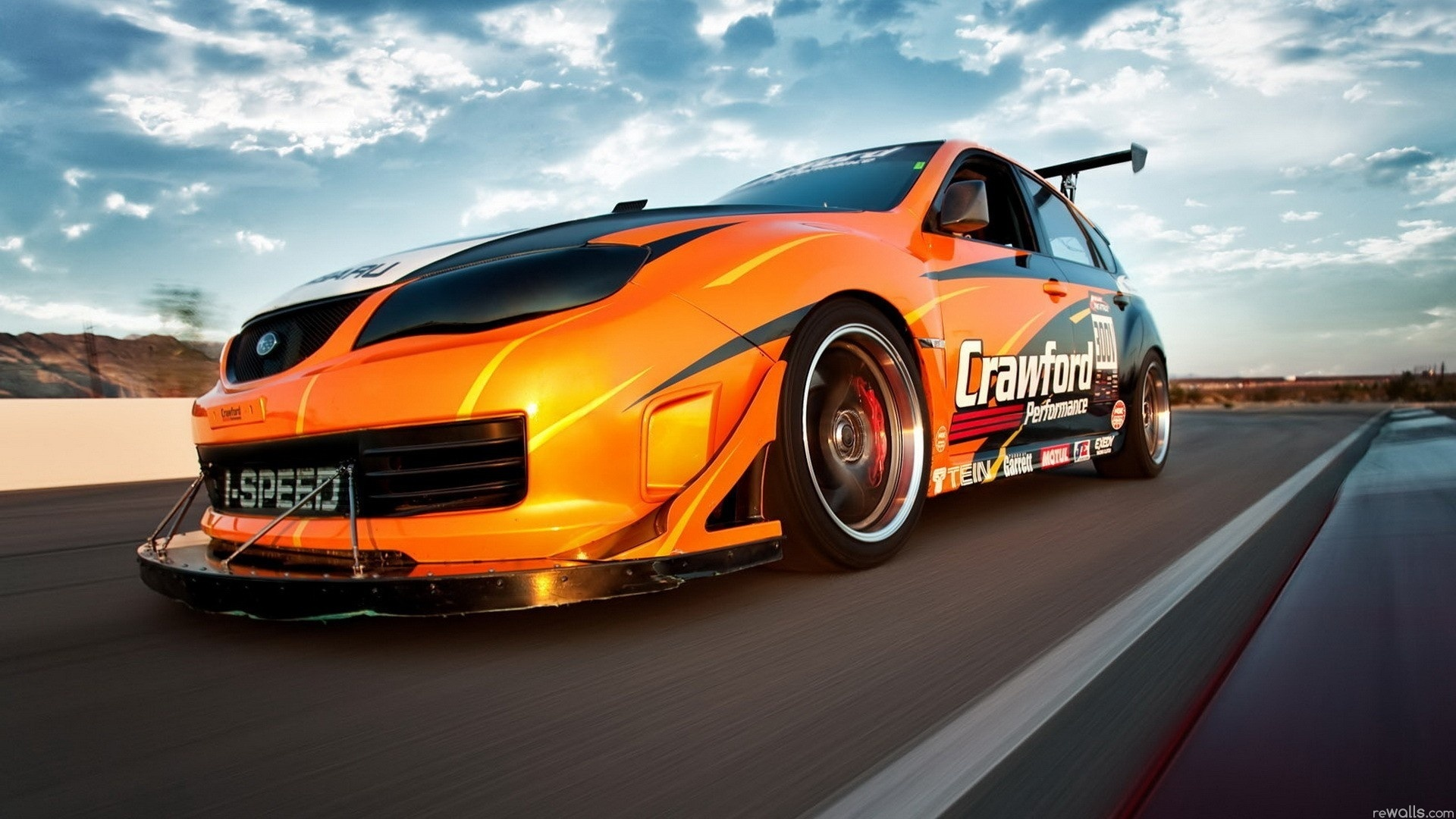 Car Wallpapers For Iphone 3gs Wallpaper Orange Speed Car 1920x1080 Full Hd 2k Picture Image