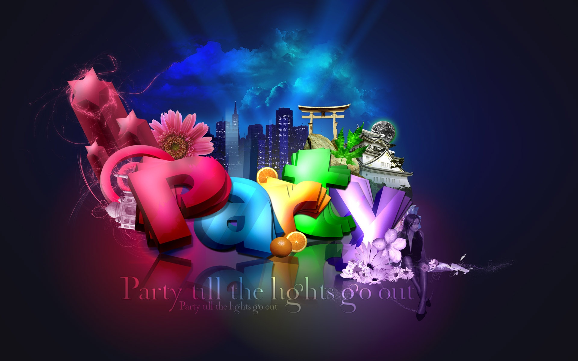 Best Iphone 4s Wallpapers Hd Wallpaper 3d Colorful Party 1920x1200 Hd Picture Image