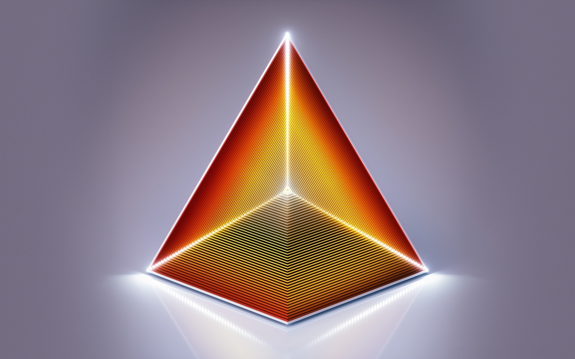 Wallpaper Abstract pyramid, triangle, design 1920x1200 HD