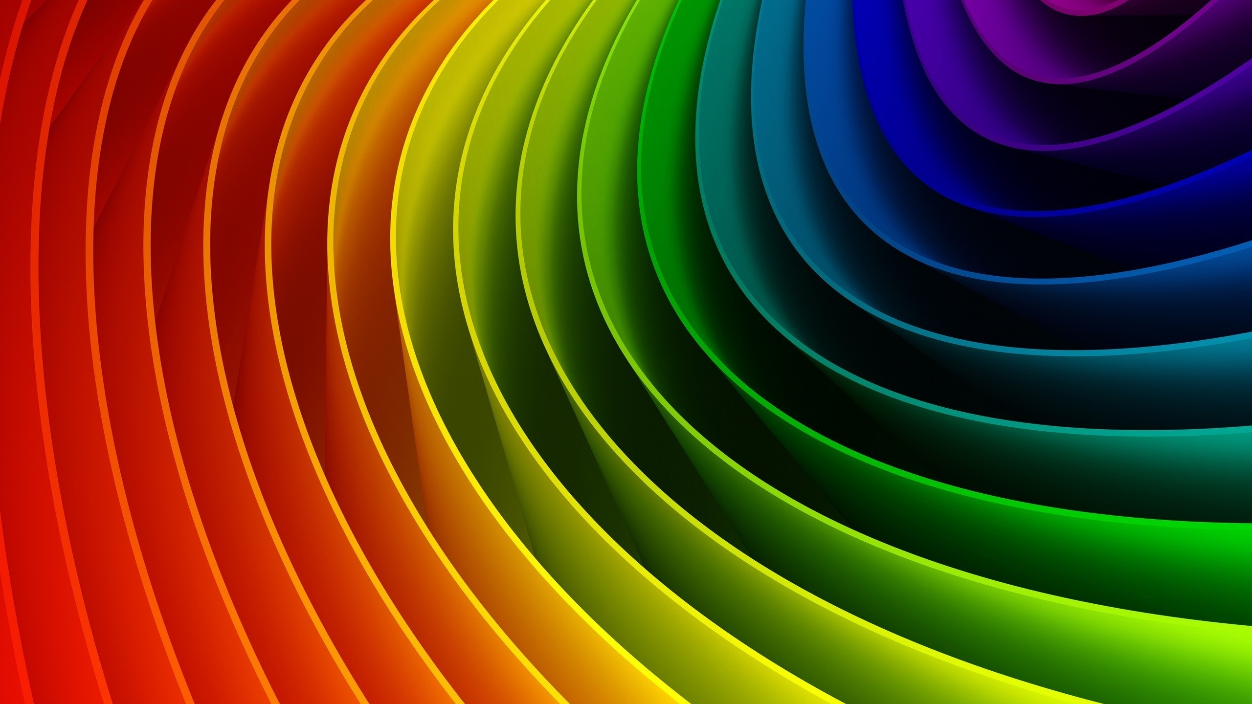 3d Curved Wallpaper Wallpaper Curved Colorful Rainbow 2560x1600 Hd Picture Image
