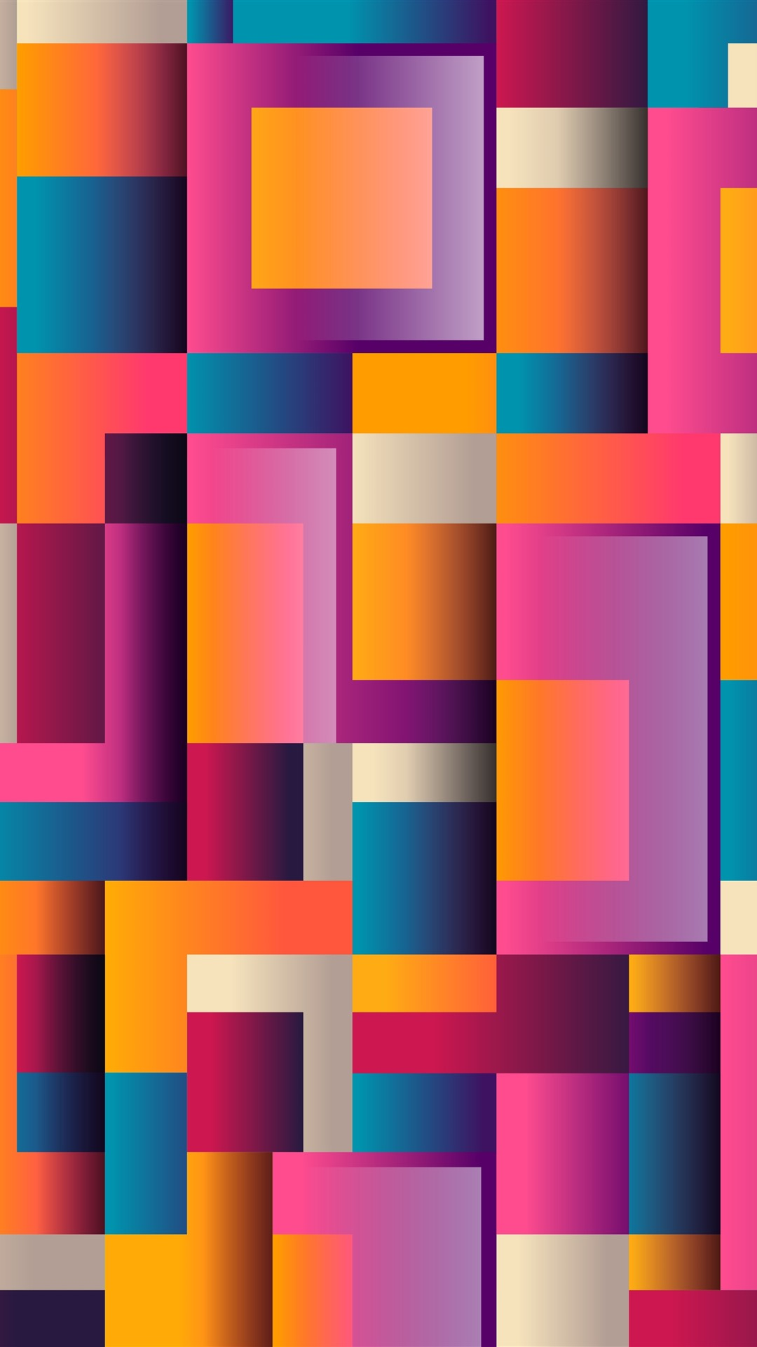 3d Abstract Rainbow Wallpaper Wallpaper Colorful Squares Geometric Abstract Background