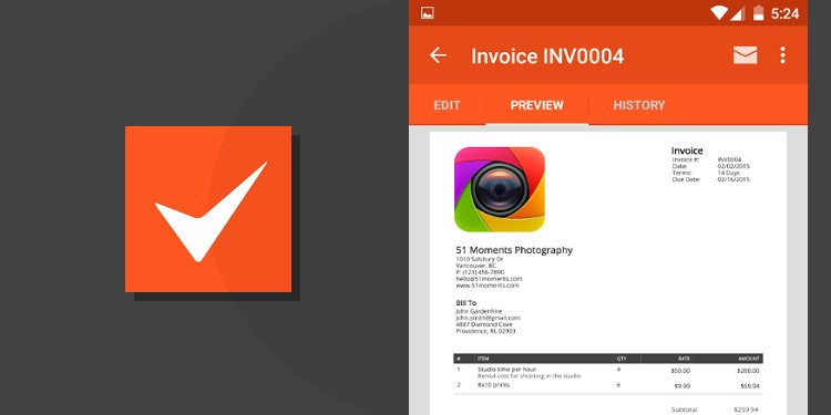 5 Best Invoicing Apps For Android Simple Minimal Powerful Best IPad