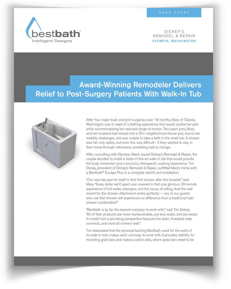 Bestbath - Bathroom ADA Shower  Walk-In Tub Case Studies