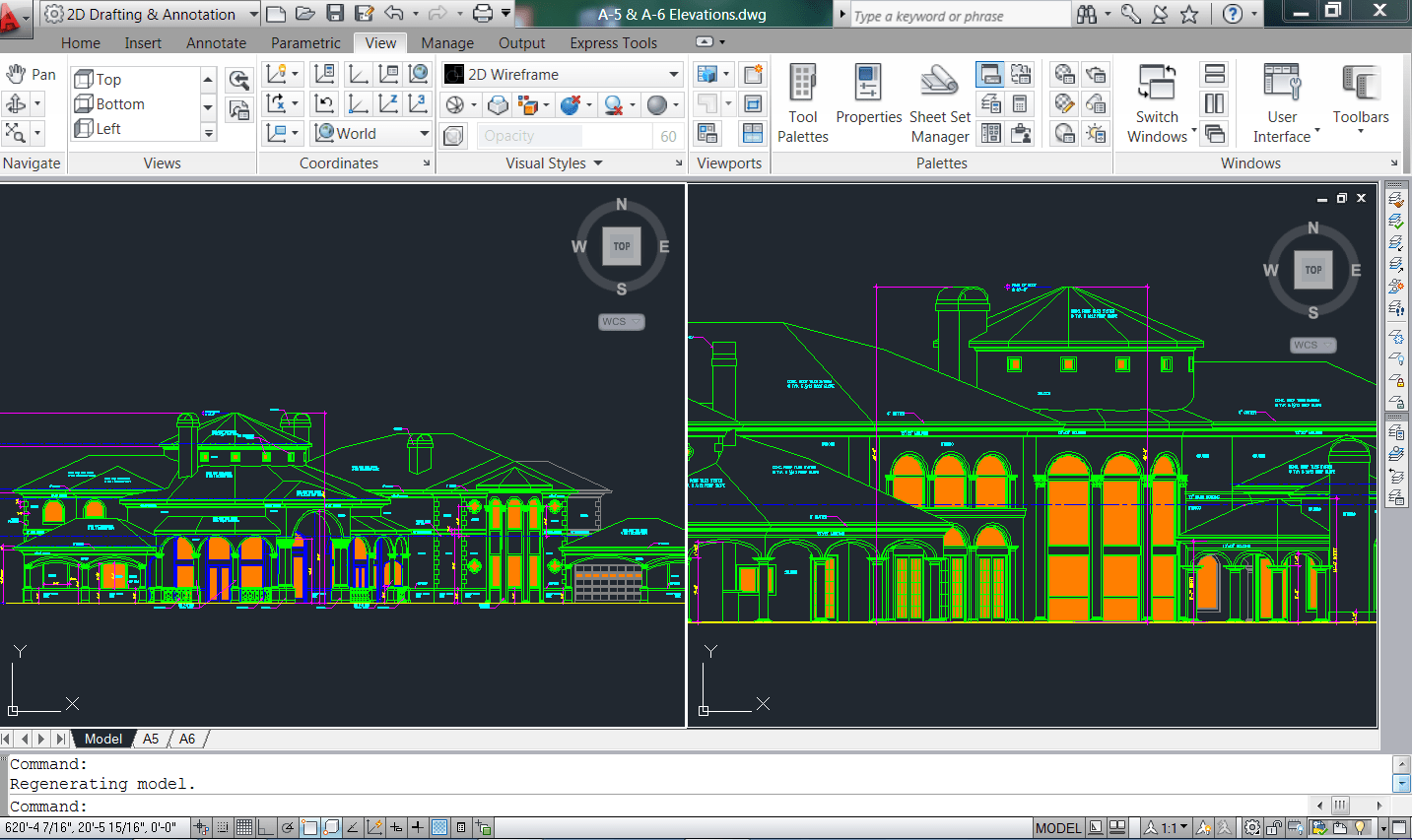 2??cad??? Using The Split Screen In Autocad