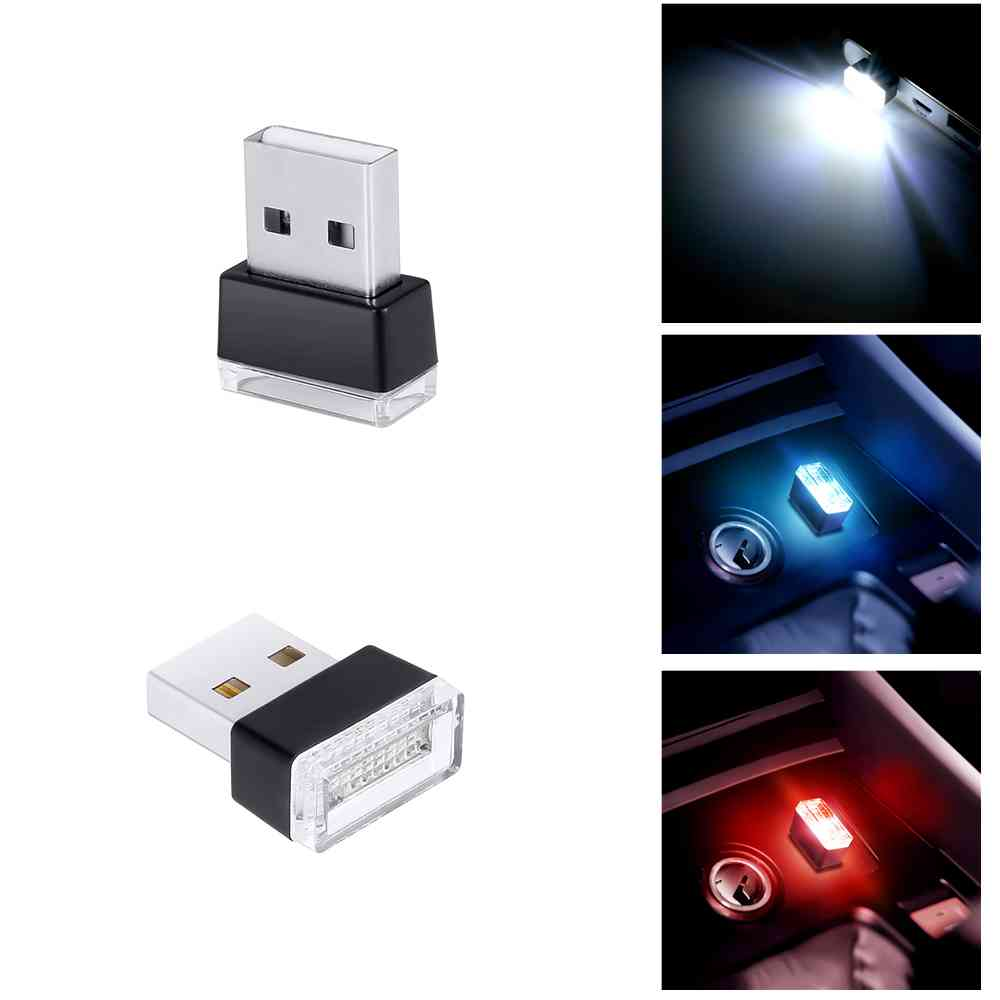 Led Auto Verlichting 1 Piece Car Usb Led Lamp Emergency Lighting Red Blue White