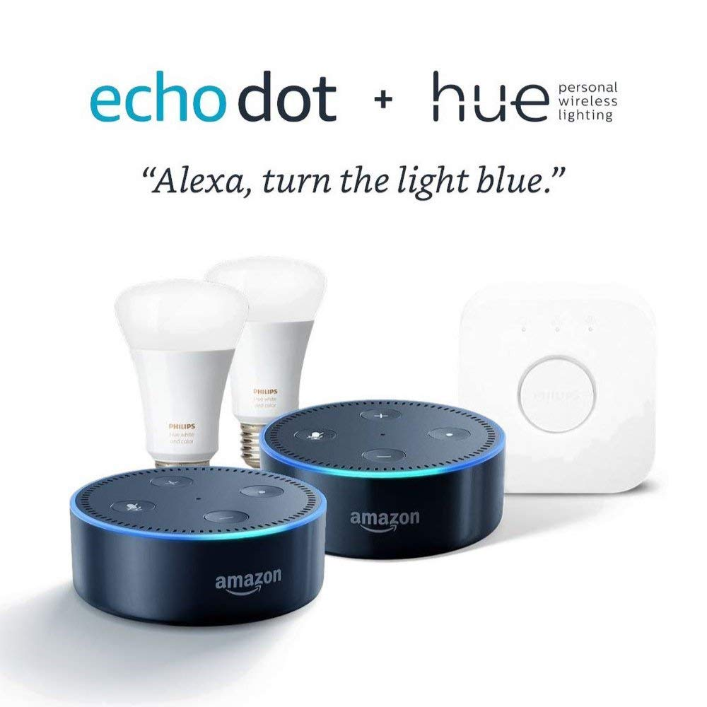 Hue Pack Philips Hue White And Color Starter Kit Echo Dot 2 Pack 150